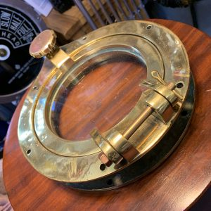 Solid, original porthole