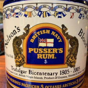 Nelsons Blood.  Rare Pussers Rum 1 Litre Flagon Sealed (unopened)