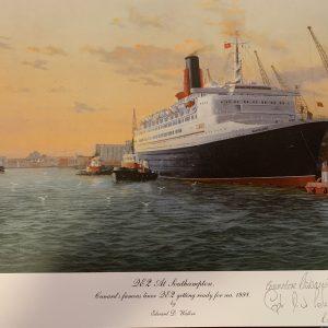 QE2 Rare signed prints – Southampton