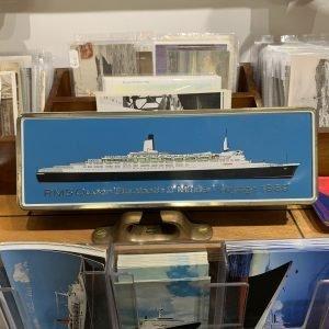 QE2 Maiden voyage Cigarette Tin 1969