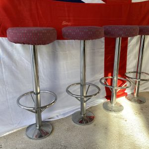 Unused bar stools, made for HMS Daring