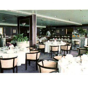 Cunard QE2 Princess Grill Restaurant 1st Class Dining Chairs