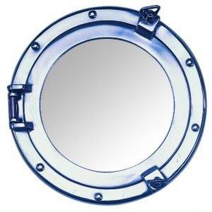 Aluminium Nauticalia Reproduction Porthole Mirror, 50cm