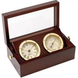 Nauticalia Brass Clock & Barometer Set in Box 5345