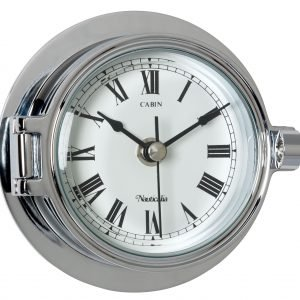 Nauticalia Chrome Riviera Clock 6790
