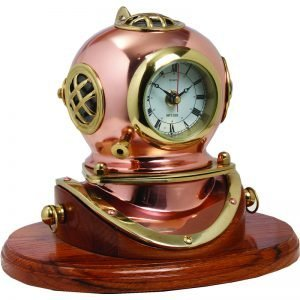 Nauticalia – Diving Helmet Clock on Plinth 7012