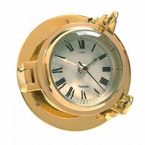Nauticalia Brass Cabin Clock, 14cm 7102