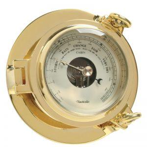 Nauticalia Brass Cabin Barometer, 14cm. 7103