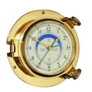 Nauticalia Brass Cabin Tide Clock, 14cm 7104