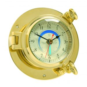 Nauticalia  Brass Saloon Tide Clock 7120