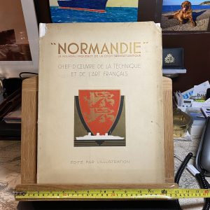NORMANDIE Edite Par L'illustration Official Brochure for the Normandie 1935