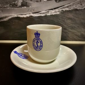 Royal Navy Admiralty Blue Badge Coffee Cup & Saucer