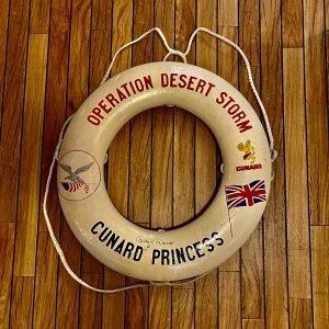 Unique Cunard Princess Operation Desert Storm Life Ring