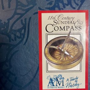 18th C.  Authentic Models Sundial & Compass CO028