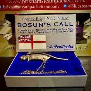 Genuine Royal Navy Pattern BOSUN'S CALL (Whistle)