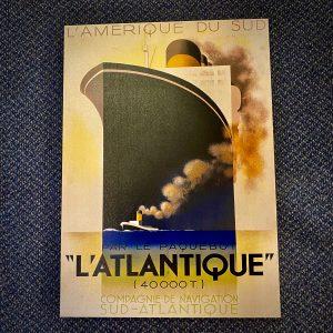 Authentic Models AC367 A.M. Cassandre's L'Atlantique poster on canvas