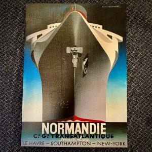 Authentic Models AC369 S.S. Normandie – Cassandre Poster on Canvas