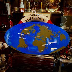 Cunard QE2 Premier World Cruise 1975 unique plaque