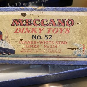 Meccano Dinky Toys No 52 Cunard White Star RMS Queen Mary