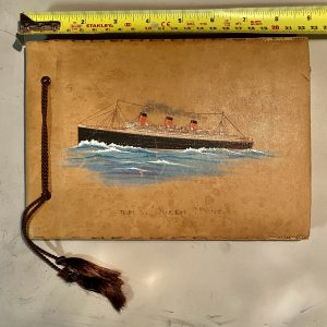 Vintage Leather RMS Queen Mary Photograph Album