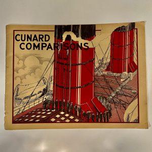 CUNARD COMPARISONS Brochure circa 1920