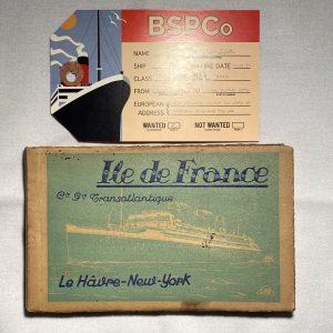 L'ile De France book of 20 vintage postcards CGT