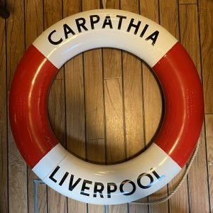 Period Perrybuoy Life Ring Hand Sign written Carpathia Liverpool