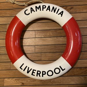 Period Perrybuoy Life Ring Hand Sign written Campania Liverpool