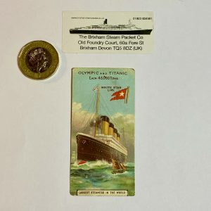 """Extremely Rare and Highly Collectable Cadbury's """"Titanic and Olympic"""" Trade Card"""