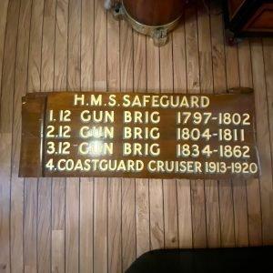 Genuine Royal Navy Plaque HMS Safeguard