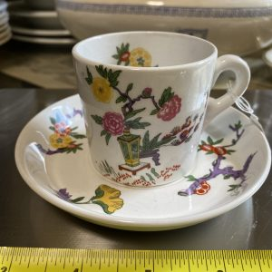 CANADIAN PACIFIC 'EMPRESS' PATTERN MINTON COFFEE CAN AND SAUCER
