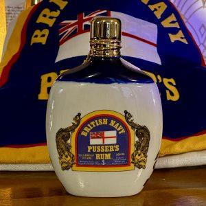200ml British Navy Pusser's Rum Hip Flask (unused)