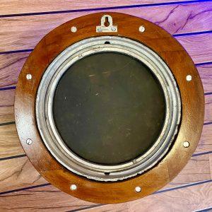 17″ 2 Key Original Polished Aluminium Ships Porthole Mirror