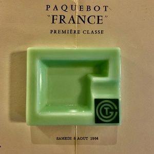 CGT French Line paquebot Opalex Jadeite Ashtray