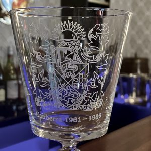 P&O SS Canberra 25th Anniversary Crystal Wine Glass