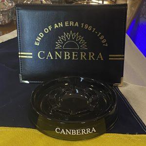 Genuine P&O SS Canberra Glass Ashtray 15cm