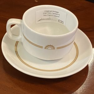P&O SS Canberra Chinacraft Tea Cup and Saucer