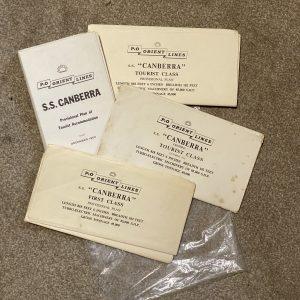 4 Sets Vintage deck plans for P&O Orient Lines SS Canberra circa 1960
