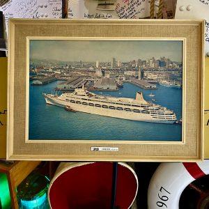 Original Travel Agents P&O SS Canberra Framed Display Photo