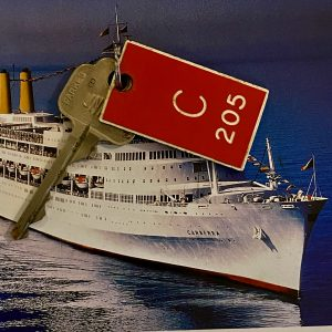 Original P&O SS Canberra Cabin key and tag C205