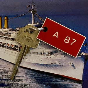 Original P&O SS Canberra Cabin key and tag A87