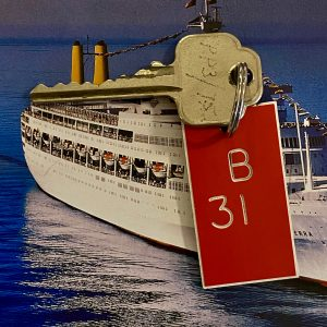 Original P&O SS Canberra Cabin key and tag B31