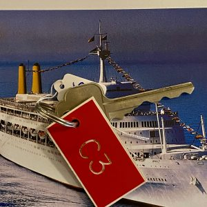 Original P&O SS Canberra Cabin key and tag C3