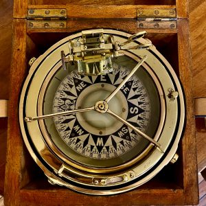 Henry Browne & Son Ltd portable boxed Ship's Sestrel Brass Compass