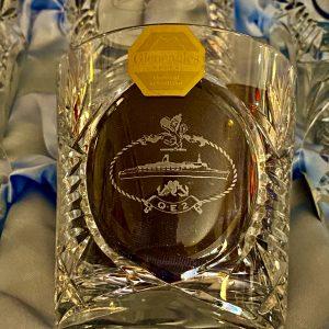 Set of Six beautiful Gleneagles QE2 cut glass whisky glasses