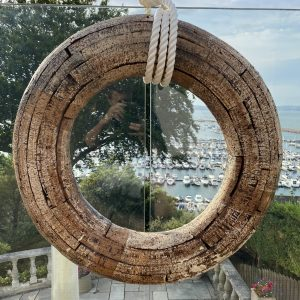 """""""Pride of the Dart"""" Rescue Motor Launch, up-cycled Cork Life Ring 1940's"""