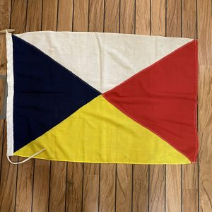 Genuine P&O TSS Canberra Stitched Cotton Lifeboat Flag