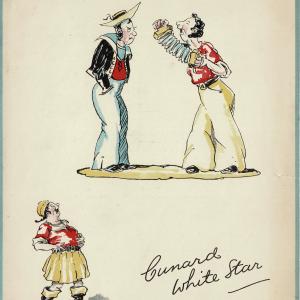 """Cunard White Star Menu """"Get Together Dinner"""" RMS Lancastria 1935"""