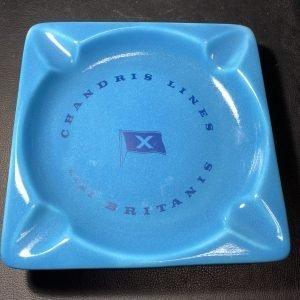 A Chandris Line blue ash tray