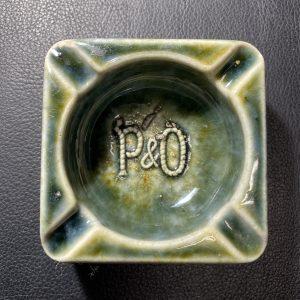 A Rare P&O Small Square Green Ash Tray
